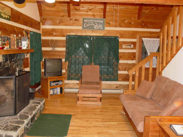 Beau ... Log Cabin Vacation Rental, Living Room, Mountain Laurel Cabin, Near  Boone, NC