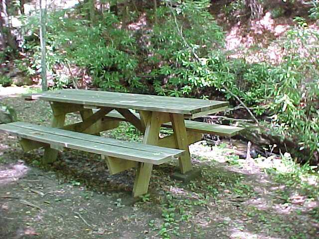 Picnic Table, Campfire Ring, Private Log Cabin Rentals, Boone, NC